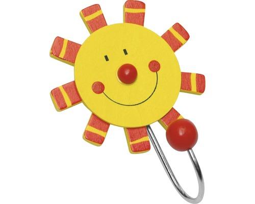 Portemanteau enfants 110 mm soleil, 1 crochet