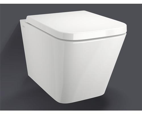 WC suspendu sans bride de rinçage Jungborn Keona, blanc, avec abattant WC