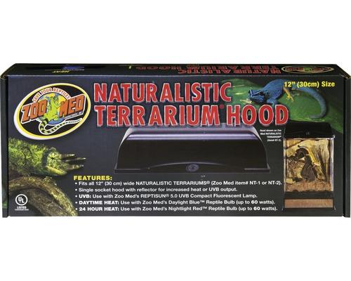Couvercle Zoo Med Naturalistic Terrarium Hood 30 cm schwarz
