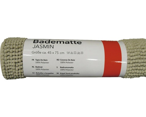 Badematte Chenille taupe