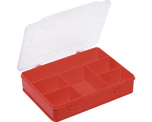 Organisateur boîte à assortiment avec 6 compartiments