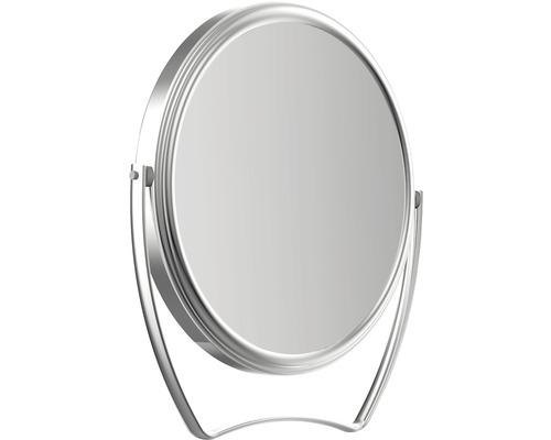 Miroir de voyage pour maquillage grossissant 3x chromé