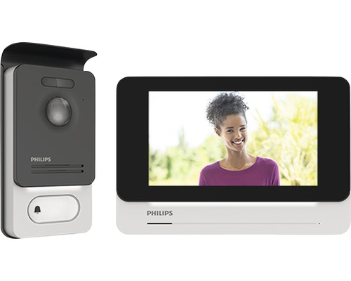 Système d'interphone Philips WelcomeEye Touch avec fonction vidéo argent/noir