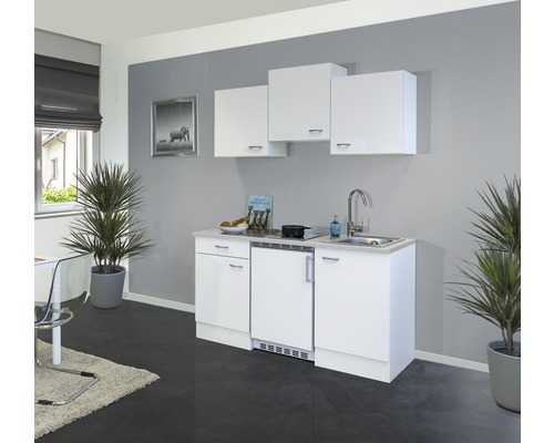 Kitchenette Wito 150 cm blanc/blanc