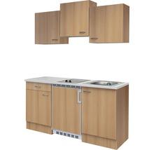 Kitchenette Nano 150cm décor hêtre/décor hêtre-thumb-2