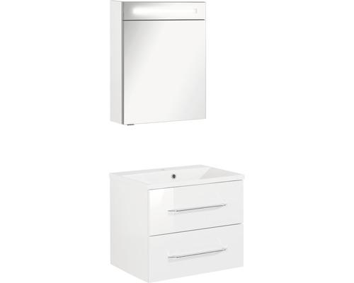 Ensemble de meubles de salle de bains FACKELMANN B.clever blanc à haute brillance 60x200cm