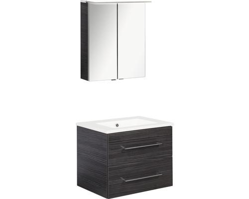 Ensemble de meubles de salle de bains FACKELMANN B.perfekt Dark Oak 60x200cm