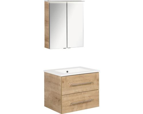 Ensemble de meubles de salle de bains FACKELMANN B.perfekt chêne noueux 60x200cm