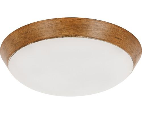 Plafonnier LED pour ventilateur de plafond Lucci Air Type A Ø 226 mm 14W 800 lm 3000 K blanc chaud bois Dark Koa