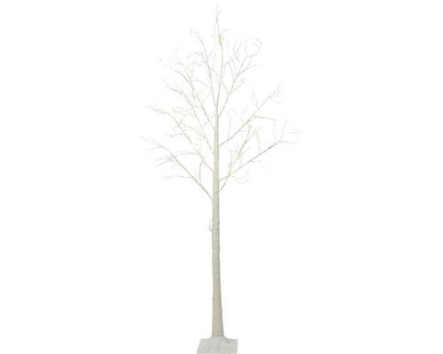 Arbre lumineux LED bouleau extérieur et intérieur h 240 cm lot de 160 ampoules blanc froid