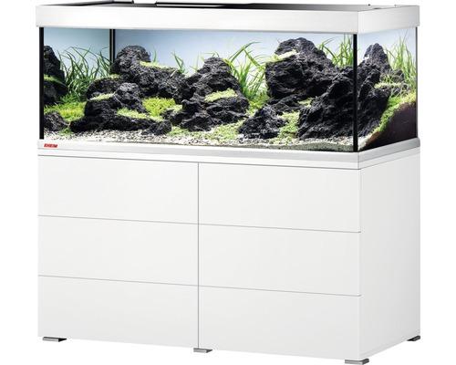 Kit complet d''aquarium EHEIM proxima 325 classic avec éclairage LED et meuble bas blanc