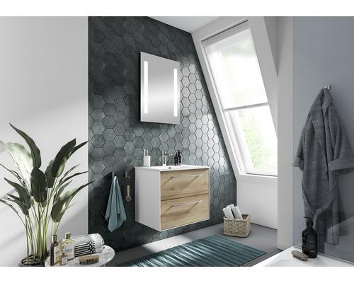 Ensemble de meubles de salle de bains Pelipal Xpressline 3065 63 cm avec vasque et miroir chêne Riviera