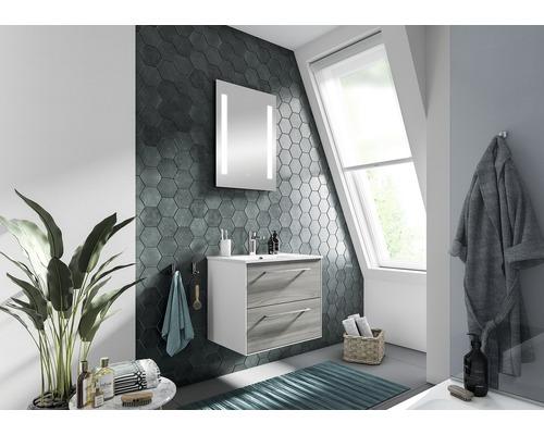 Badmöbelset pelipal Xpressline 3065 63 cm mit Waschtisch und Spiegel Sangallo grau