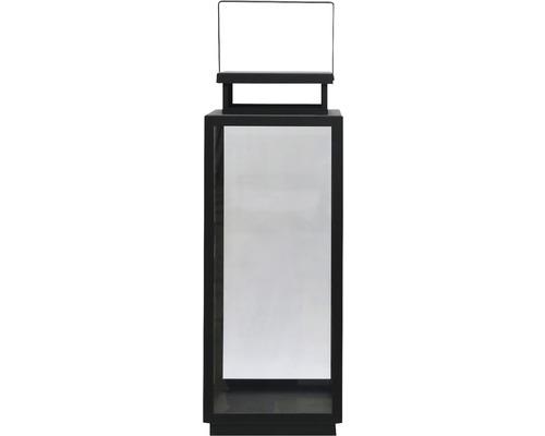 Lanterne métal 21x21x53 cm noir