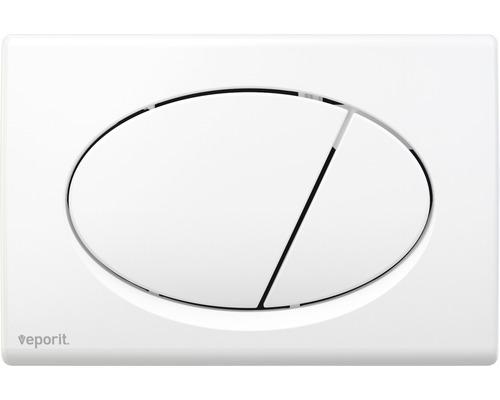veporit. Plaque de déclenchement OVAL 1.01 blanche