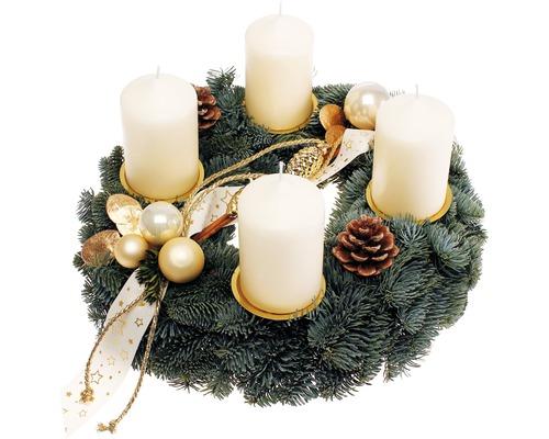 Couronne de l''Avent avec bougies Ø 35cm crème