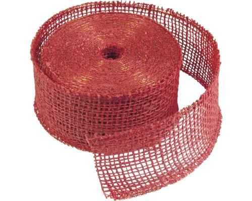 Ruban de décoration en jute Windhager 10m rouge