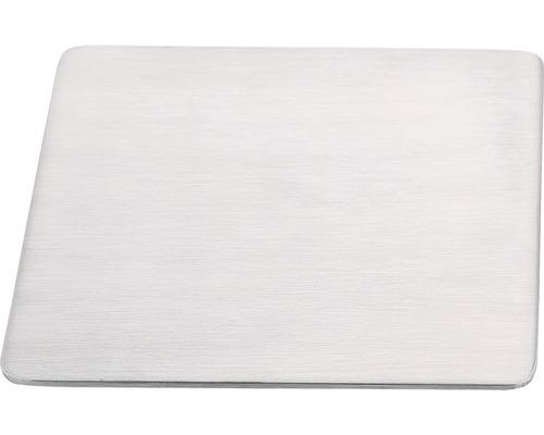 Plaque de montage REIKA Ovaro pour accessoires aimantés 12x12cm brossée