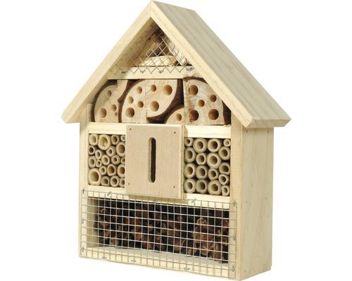 Hôtel à insectes pour abeilles sauvages, coléoptères, etc.