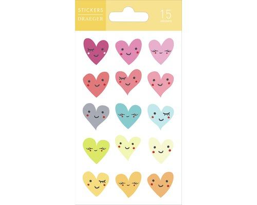 Mini-autocollants Happy Hearts 15 pces