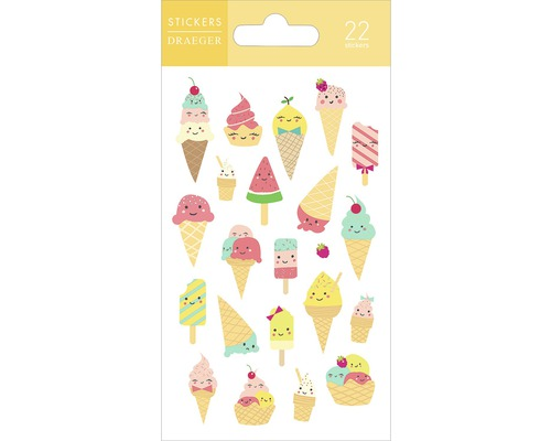 Mini-autocollants Ice Cream 21 pces