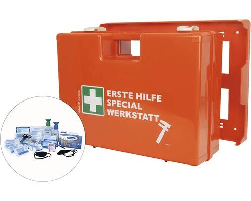 Coffret de pansements spécial atelier DIN 13 157, équipement spécial inclus