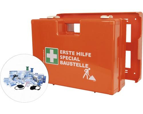 Coffret de pansements spécial chantier DIN 13 157, équipement spécial inclus