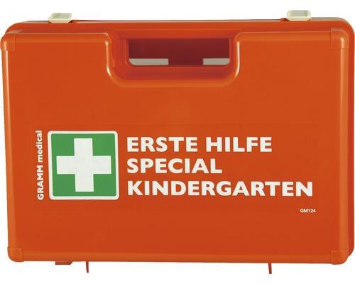 Coffret de pansements Jardins d'enfants DIN 13 157, équipement supplémentaire spécial pour jardins d'enfants inclus