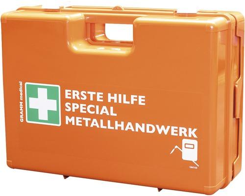 Coffret de pansements spécial constructeur métallique DIN 13 157, équipement spécial inclus