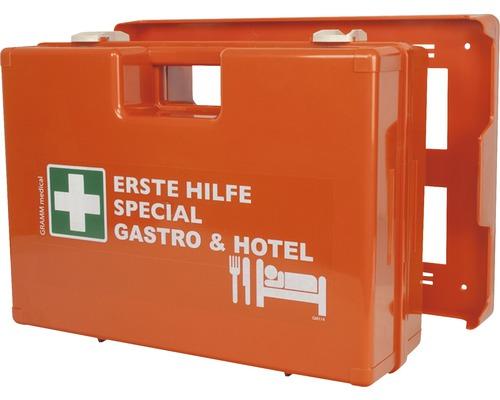 Coffret de pansements spécial Gastronomie & Hôtellerie DIN 13 157, équipement spécial inclus
