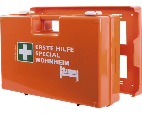 Coffret de pansements spécial foyer DIN 13 157, équipement spécial inclus