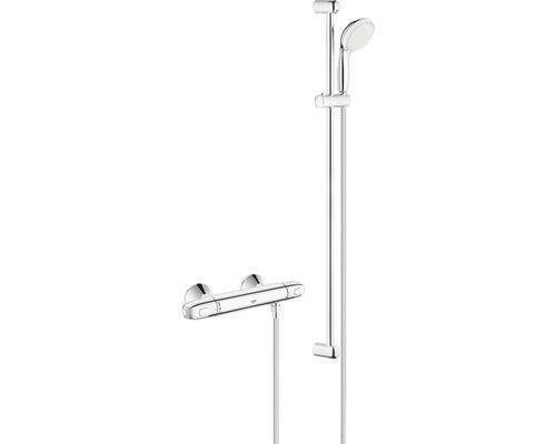 Ensemble de douche GROHE Eurosmart 34256004, longueur de la barre de douche 600mm avec robinet thermostatique