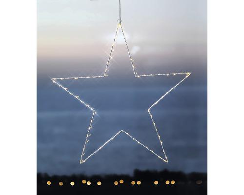Objet lumineux LED Sirius étoile H 70 cm lot de 80 blanc chaud