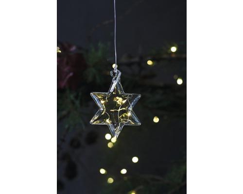 Objet lumineux LED Sirius étoile Rebecca à piles Ø 8 cm lot de 5 blanc chaud avec fonction de minuterie