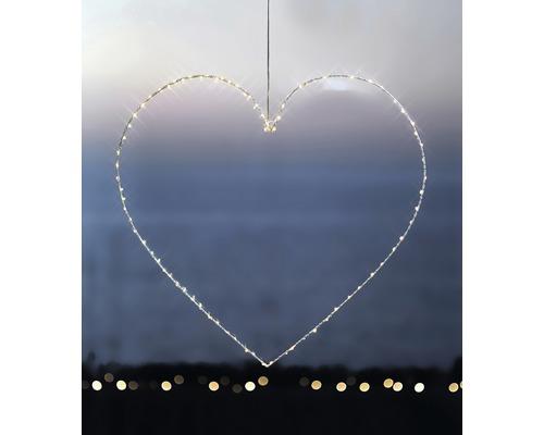 Objet lumineux LED Sirius cœur H 64 cm lot de 80 blanc chaud