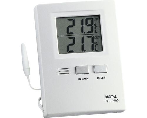 Thermomètre intérieur/extérieur numérique TFA pile incl.