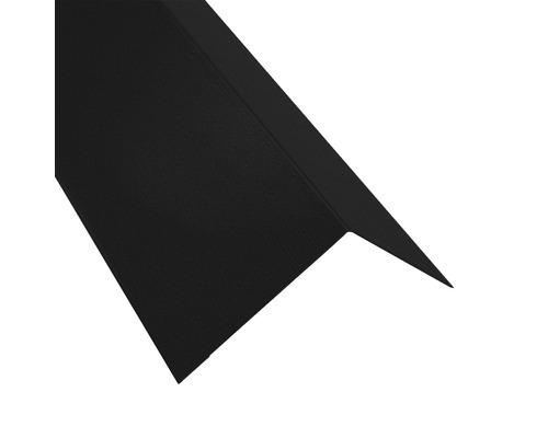 PRECIT Rinneneinhang für Metallwellplatte S18 Big Stone jet black RAL 9005 2 m