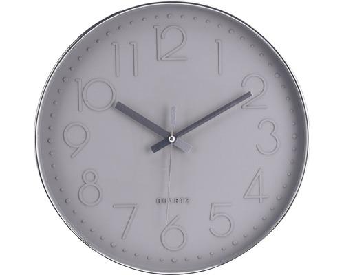 Horloge murale, gris clair, Ø 30,5cm