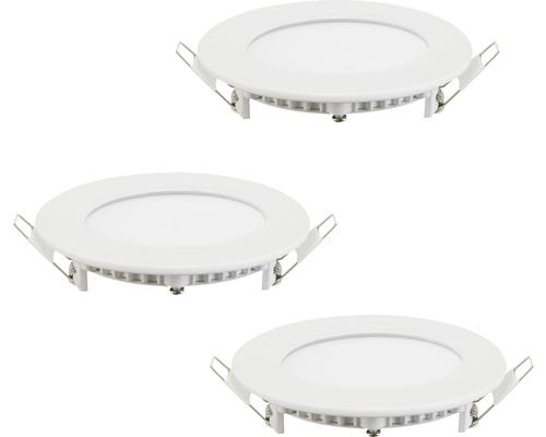 LED Einbauleuchten-3er-Set RGB weiß dimmbar 3x3W 3x360 lm 2765 K warmweiß Ø 85 mm