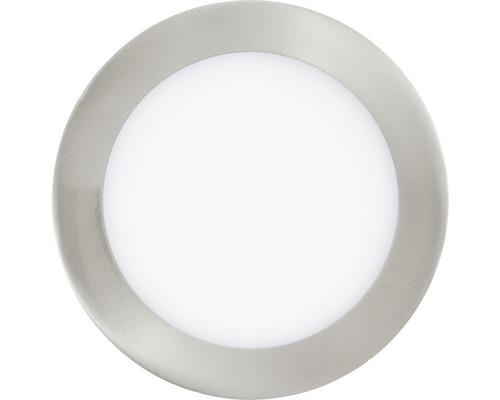 Éclairage LED à encastrer RGB CCT nickel/mat à intensité lumineuse variable 10,5W 1200 lm 2765 K blanc chaud Ø 170 mm