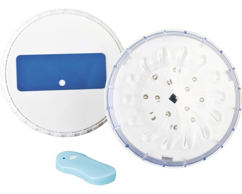 Kit d''éclairage de piscine composé de 2 projecteurs LED adapté pour les piscines hors sol