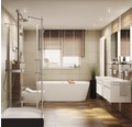 Baignoire balnéo Confort - Baignoire indépendante système Light et Silent Trend 179,5x80cm blanc