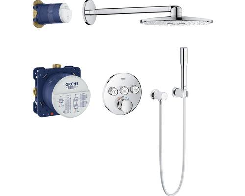 Unterputz Duschsystem GROHE Grohtherm SmartControl 34705000 mit Rainshower SmartActive 310 chrom