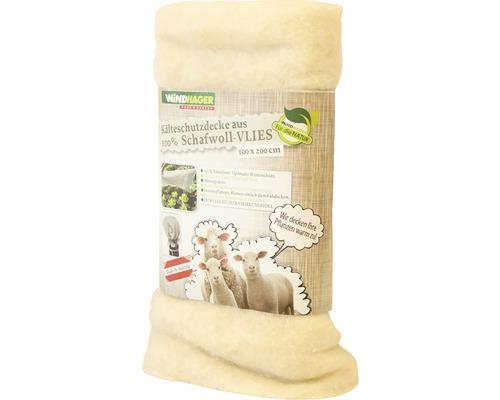 Couverture intissée en laine de mouton Windhager 2x1 m blanc