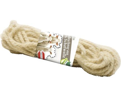 Ficelle en laine de mouton 10 m blanc