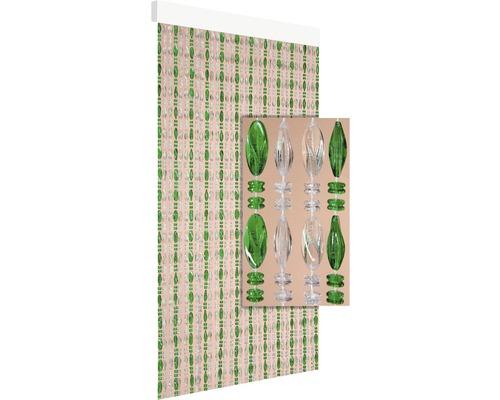 Rideau de porte Chios transparent-vert 90x210 cm