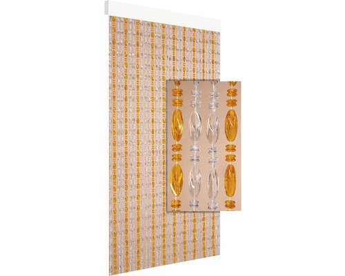 Rideau de porte Chios transparent-jaune 90x210 cm