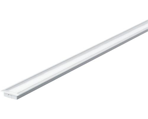 Profilé Paulmann aluminium Floor avec diffuseur alu/anodisé/satin 1,0 m