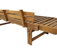 Gartenbank Multifunktion Garden Place Holz Akazie 3-Sitzer braun inkl. Kissen-thumb-4