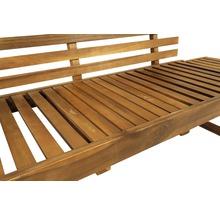 Gartenbank Multifunktion Garden Place Holz Akazie 3-Sitzer braun inkl. Kissen-thumb-6